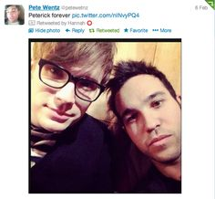 even pete ships peterick ♥ They're back!