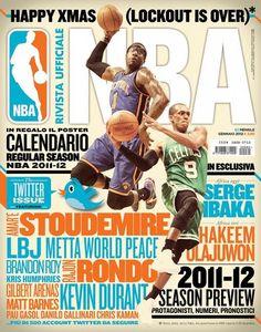 Rivista Ufficiale NBA - Covers 2011/12 by Francesco Poroli, via Behance