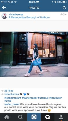 Vivian Hamza from London taking an afternoon stroll in her #WalterBaker KEANU TRENCH coat