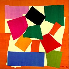 The Snail by Henry Matisse - Cut-out paper collage, Tate Modern