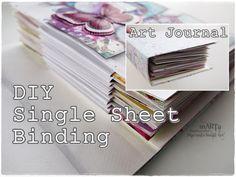 DIY Single Sheet Bookbinding Accordion ♡ Maremi's Small Art ♡