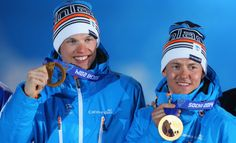 Winter Olympics 2014, Sochi, cross country sprint  GOLD, Sami Jauhojärvi and Iivo Niskanen.