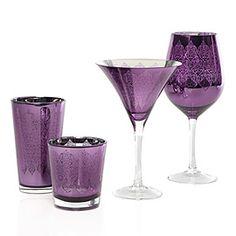 Purple Punch: Puccini Glassware Collection - Aubergine Set of 4 Purple Home, Purple Punch, Purple Kitchen, Affordable Modern Furniture, All Things Purple, Purple Stuff, Malva, Purple Reign, Stylish Home Decor