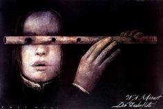Die Zauberflote, Polish Opera Poster: Polish Posters Shop Wiktor Sadowski