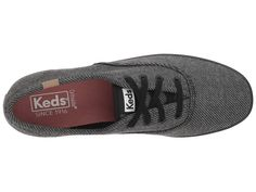 d4b49752244 Keds Champion Twill Stripe Jersey Women s Lace up casual Shoes Charcoal