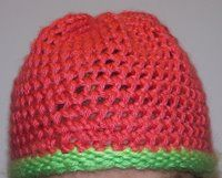 Off the Loom: papaya-limelight mock crochet hat - loom knitting