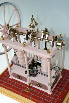 Metal Lathe Projects, Structural Model, Stirling Engine, Train Table, Maker Shop, Small Engine, Steam Engine, Steam Locomotive, Model Trains