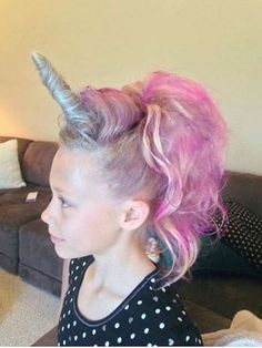 unicorn hair for crazy hair day, or halloween.