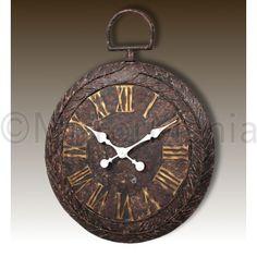 Perth  - Large Metal Fob Wall Clock