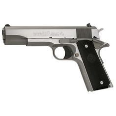 """Colt O1091 1991 Series Government 45 ACP 5"""" 7+1 Blk Poly Grip Stainless"""