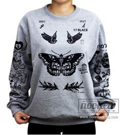Larry Stylinson Tattoo Sweatshirt Sweater Crew Neck by Noonew