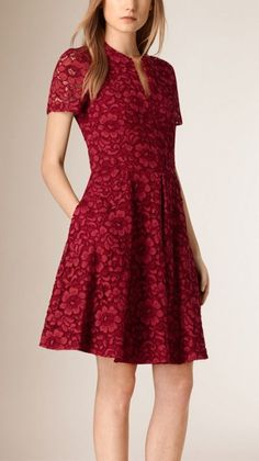 Parade red French Lace A-line Dress 1