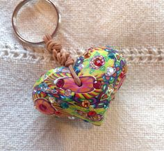 Heart+bead+keychain+by+BillieBeads+on+Etsy,+$90.00