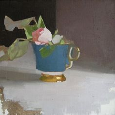 ❀ Blooming Brushwork ❀ - garden and still life flower paintings - Diarmuid Kelley Painting Still Life, Still Life Art, Paintings I Love, Floral Paintings, Still Life Flowers, West Art, Iwaoi, Contemporary Paintings, Oeuvre D'art