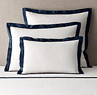 Italian Bold Border Cotton Sham Rh Rugs, Furniture Vanity, Modern Shop, Rug Sale, Cotton Sheet Sets, Cotton Bedding, Bedding Collections, Bed Pillows, Pure Products
