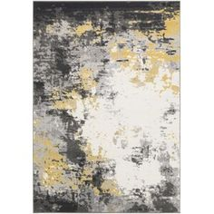 Well Woven Rosa Gold/Gray Rug   Wayfair Industrial Area Rugs, Contemporary Area Rugs, Abstract Styles, Abstract Watercolor, Throw Rugs, Abstract Pattern, Blue Area Rugs, Colorful Rugs, Home Decor