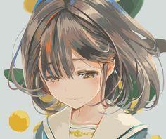 Anime girl with brown hair and brown eyes Anime School Girl, Anime Girl Cute, Beautiful Anime Girl, Anime Girls, Anime Art Girl, Manga Girl, Art Manga, Manga Anime, Manga Kawaii