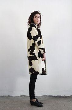 Antique 20s Cowhide Coat