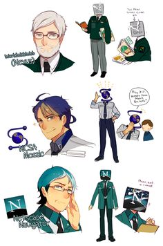 Browser Uncles by ROSEL-D.deviantart.com on @DeviantArt