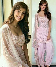 Disha patani in pathani Punjabi Fashion, Indian Bridal Fashion, Bollywood Fashion, Bollywood Actress, Pakistani Dresses, Indian Dresses, Indian Outfits, Indian Attire, Indian Wear