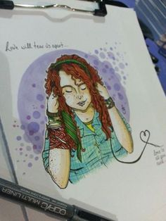 Sat at my exhibition table in the Comic Zone at London Film and Comic Con and decided to draw a quick doodle of Eleanor from Rainbow Rowell's 'Eleanor and Park'… soon turned into a coloured piece. Doodle Drawings, Drawing Sketches, Eleanor And Park, Favorite Book Quotes, Rainbow Rowell, Anime Fairy, Sketch Painting, Couple Art, Book Nooks