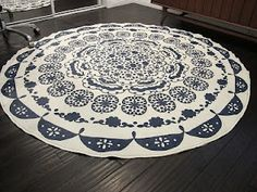 more tablecloths turned rug