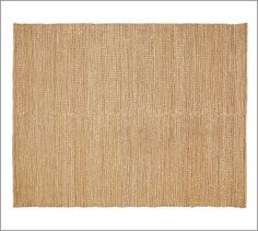Heathered Chenille Jute Rug - Natural #potterybarn.  I'm thinking one in each room--clean & simple.