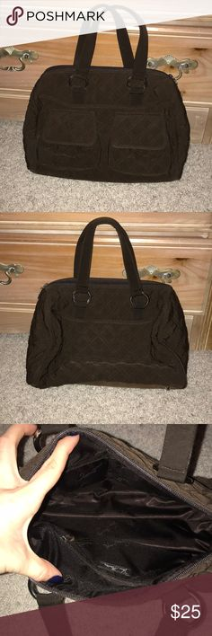 Brown quilted Vera Bradley bag Brown quilted bag from Vera Bradley in perfect condition! Vera Bradley Bags Satchels