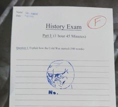 Rage Comic NO. Lol well I suppose if you know you're going to fail anyway...