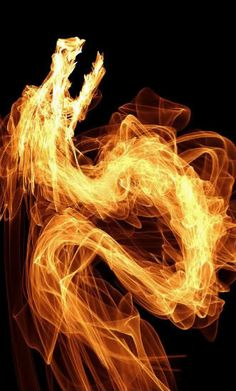 A dragon made of fire would be amazing as a tattoo.  I'm not sure how but I'd love it.