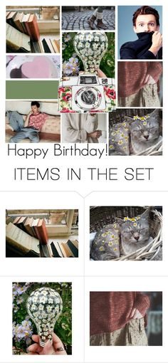 """Happy Birthday! @dariansharkbait"" by elliewriter ❤ liked on Polyvore featuring art"