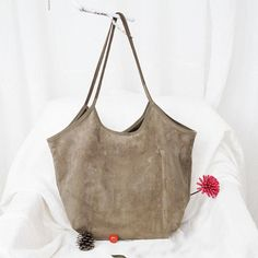 Literature Suede Fabric Women Shoulder Bag