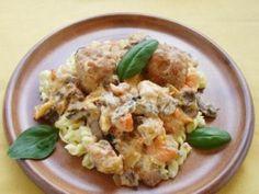 Gombás-zöldséges húsgolyó | NOSALTY Potato Salad, Potatoes, Ethnic Recipes, Food, Potato, Essen, Yemek, Meals