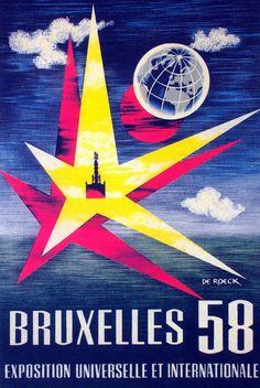 Brussels 1958 World's Fair Poster