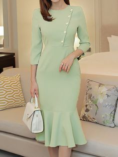 Buy Midi Dresses For Women from Eau du Sud at Babyonlinewholesale. Online Shopping Babyonlinewholesale Midi Dress Mermaid Work Dress Sleeve Work Beaded Solid Dress, The Best Work Midi Dresses. Lovely Dresses, Trendy Dresses, Plus Size Dresses, Elegant Dresses, Women's Dresses, Blue Dresses, Dress Outfits, Casual Dresses, Dresses For Work