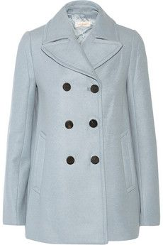 Tory Burch Double-breasted wool-blend peacoat | NET-A-PORTER