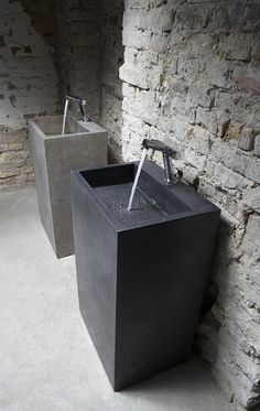 Maybe not for the main bathroom, but for a washroom in the den maybe.. Blockbuster Washbasin by Ivanka Beton Designs