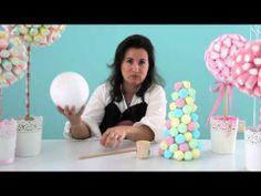 ▶ Cómo hacer centros de mesa con chuches. - YouTube