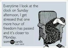 Clock on Sunday