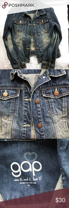 Gap Kids Jean Jacket Size XL This listing is for a gently used Gap kids jean jacket made with 100% cotton. It is in great condition with small stain on inside of pocket see pictures for details. GAP Jackets & Coats Jean Jackets