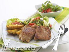 Pikáns borjúszelet, fűszeres újburgonyával recept Turkey, Meat, Food, Peru, Beef, Meals, Yemek, Eten