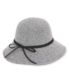 Look at this Gray & Black Faux Suede-Trim Cloche on #zulily today!