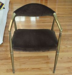 RARE ART DECO DIRECTOIRE STYLE BERGERE METAL BRASS FRAME CLUB ARMCHAIR in Antiques, Furniture, Chairs, Post-1950   eBay