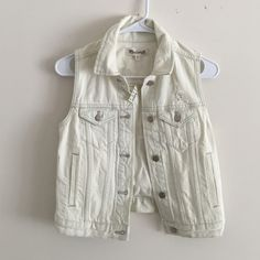 Madewell denim vest XS New with tags Madewell distressed denim vest size XS Madewell Jackets & Coats Vests