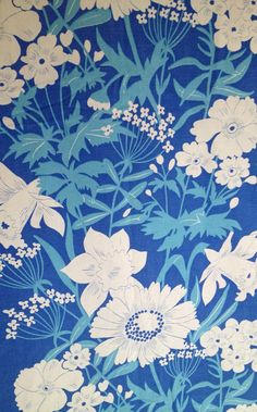 70s piece of retro vintage fabric. From duvet cover. Good used condition. Lovely pattern. Craft