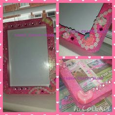 glitter picture frames