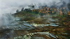 China's Stunning Terraced Rice Paddies Woke Up Like This   WIRED
