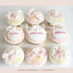Simple Flowers Cupcakes - Cake by guiltdesserts