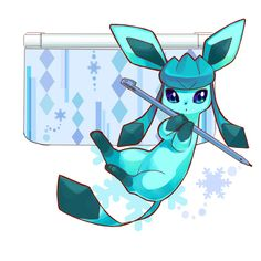 Pokémon - Glaceon-themed 3DS XL. I wonder if they made units themed for individual Pokémon which one would be the most popular?
