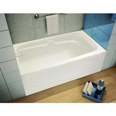 Maax Soaker Tubs Canada 60 x 30 White Cocoon Left Hand Soaker